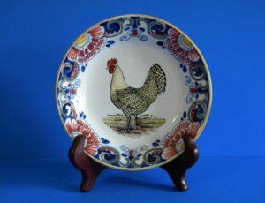 aardewerk wandbord dieren kip